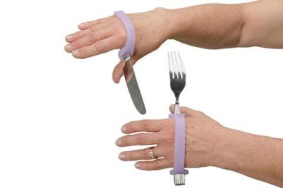 EZ Hold Universal Cuff with silverware