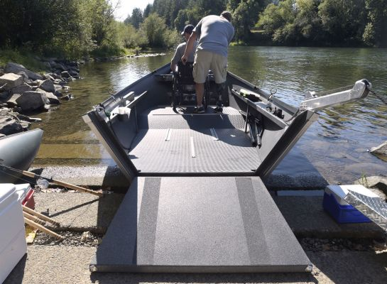 boat with wc ramp