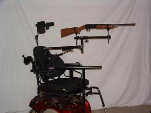 wheelchair rifle mount be adaptive equipment